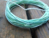 Fiber Wire Core Handspun Art Yarn 24 gauge wire Red Riding Hoods Wolf- Green Frosting