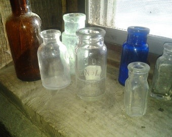 Antique Medicine Bottles - lot of 7