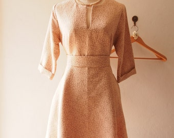 Vintage Inspired Dress, Pockets Dress, Boho Sleeve Dress, Marie Antoinette, Fall Winter Dress, Maternity Dress -Autumn Winter Collection
