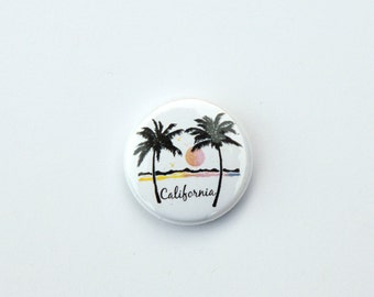 California Pin back button