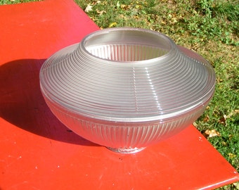 ATOMIC Age Space Dome Flying Saucer Light Cover  1950s Kitsch