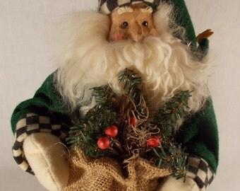 Cloth Santa With Sack Collectible