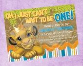 Simba the Lion King Birthday Invite