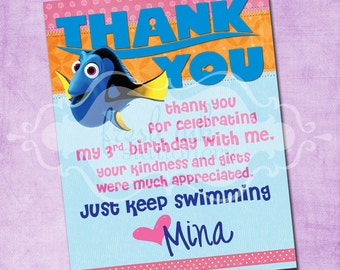 Finding Dory Thank You Card