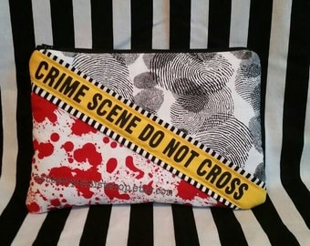 Crime Scene large padded zipper pouch forensics csi