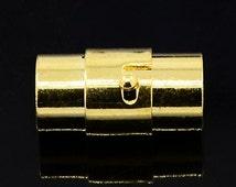 Brass Magnetic Screw Clasps, Column w/ lock 2 sizes -2 Pack