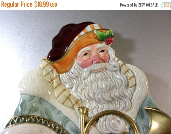 On sale fitz and floyd santa canape dish tray by ublinkitsgone for Fitz and floyd canape plate