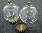 6pcs 25mm round bulb vial glass bottle with 15mm open mouth DIY pendant charm supplies 1810293