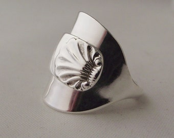 Beautiful Art Deco Handmade Antique Sterling Silver Spoon Ring dated 1921 Jewellery Unique Gift