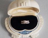 1950s 14K Gold Wedding Ring Set 10 Round Diamonds .55CTW