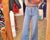 Vintage Illusions high waist flare denim jeans pants