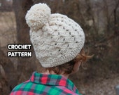 CROCHET PATTERN - Diamond Beanie Crochet Pattern - (Toddler, Child, Teen/Adult) - Sell What You Make
