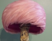 Feather Hat Hot Pink Flamingo Vintage 1950-60's Elegant Swirling Frou Frou Dream