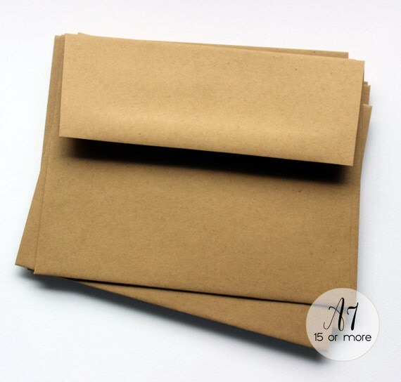 Kraft Brown Envelopes A7 Square Edge Paper Envelope Baby Shower Butcher Block In Academywe