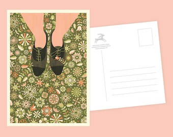 Floral Shoes Postcard or Postcard Set - Inspired by Lithuania Series