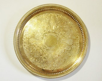 popular items for large brass tray on etsy