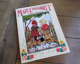 Mary Engelbreit Hardcover Cross Stitch // Make A Wish Book with Dust Cover
