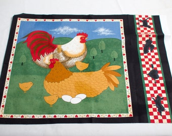 """Chickens eggs and chicks 17"""" x  22"""" panel"""