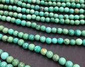 Natural Kingman Turquoise Beads 6mm