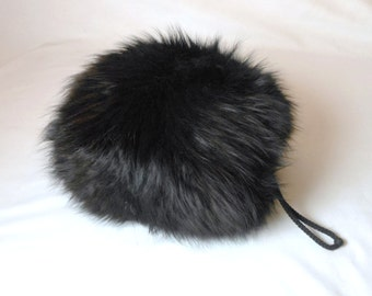 Vintage 1950's Dyed Fox Muff