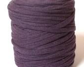 T-shirt yarn - Chunky, bulky, thick cotton 135 yds, 120 m (approx.) - purple, eggplant, mauve