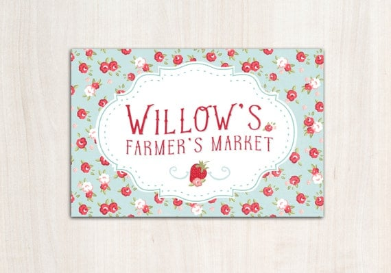 Farmer's Market Poster Backdrop - Picnic Party Supplies