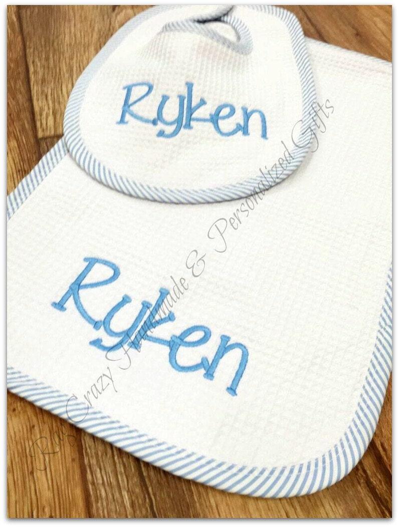 Baby Gift Monogram : Monogram baby boy gift set personalized