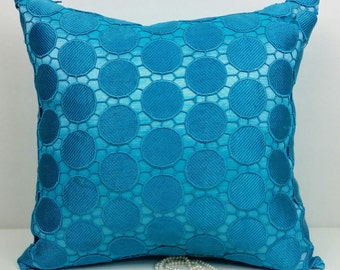Turquoise Retro Medallion Pillow Cover