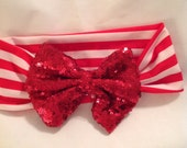Sequin Hair Bows/Hair Accessories/Large Hair Bows/ Baby Hair Bows