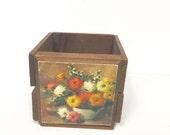 Wooden box, wood box, wooden floral box, wood crae