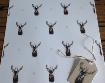 Stag wrapping paper gift wrap