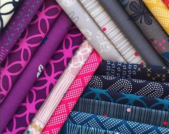 PRESALE - Macrame - Fat Quarter Bundle of 19 Cotton prints - Rashida Coleman-Hale for Cotton + Steel - MACRAME-FQ