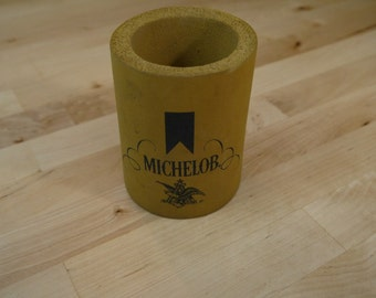 Vintage Michelob Beer Can and Bottle Holder Insulator by Foamie