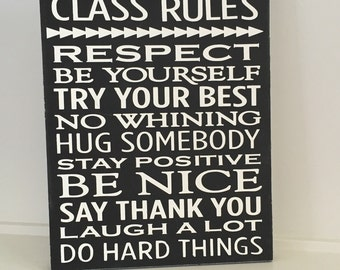 "Black and white Wooden classroom subway sign..... Hand painted.... 12""x9"".....Teacher Subway art......"