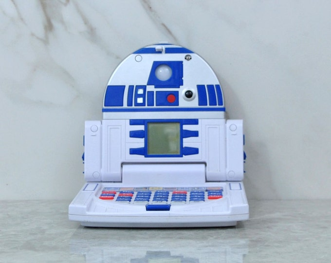 Vintage Star Wars Electronic Jr Learning Laptop R2 D2 Hand Held Childrens Electronic Game Oregon Scientific, Activities, ABCs, Numbers