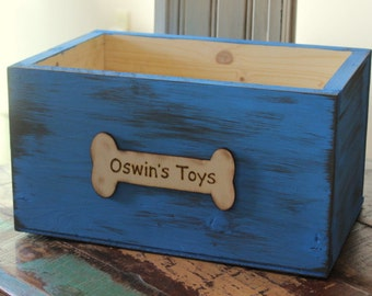 Personalized Children's Toy Box or Dog Crate (YOUR CHOICE of COLOR) Large
