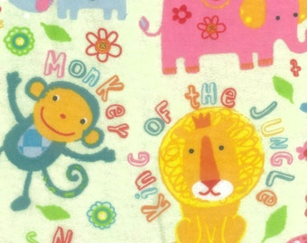 Snuggle Flannel Prints - King of the Jungle - 19 inches