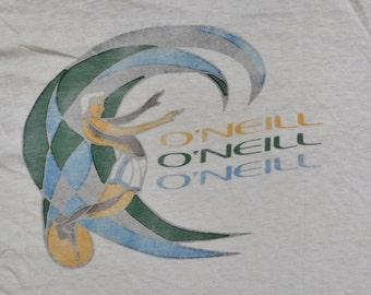 O'neill Surf Shirt 70's 80's Size L Surfing Tee T-Shirt Summer Fun Beach Boardwalk Water Sports