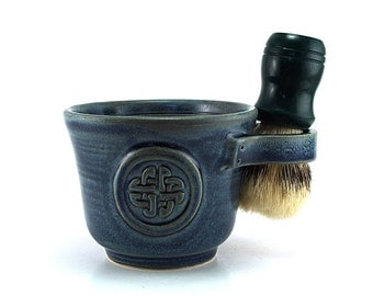 Blue Celtic Knot Shave Mug, Husband Gift for Irish, Celts - Brush NOT Included - Ready to ship