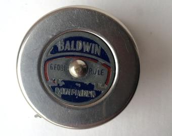 Vintage Baldwin Pathfinder 6 ft. Tape Measure