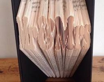Pattern- Mr and Mrs - Word Book Fold Art - 399 pages 18 cm  Wedding Gift Idea