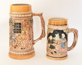 Vintage Beer Steins Made in Japan, Vintage Japanese Steins
