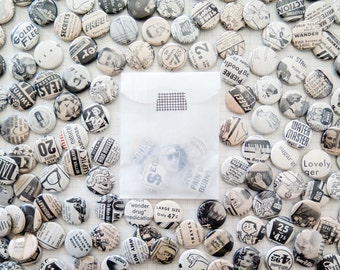 black and white button grab bags