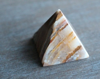 Yellow Onyx Two Inch Pyramid #24502