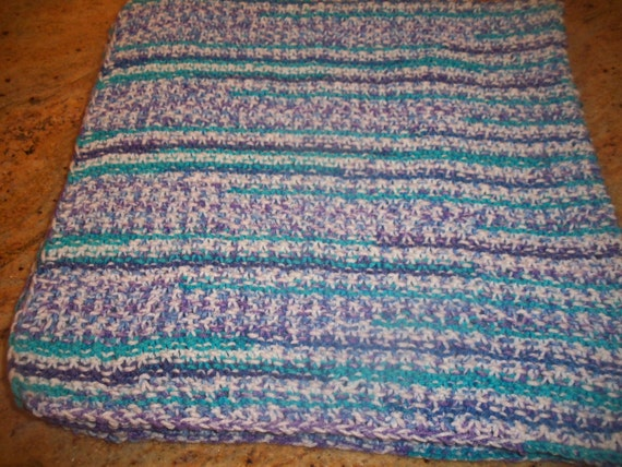 Knitted Multi Colored Baby Afghan