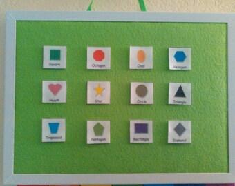 Felt Board, Flannel Board, Lime Green, Wall, Felt Story Board, Felt, Felt Toy, Educational Toy, Preschool Learning, Toddler Learning, Green