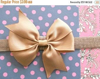 CHRISTMAS In JULY SALE Shabby Chic Baby Bow Headband - Small Flower Headband - Baby Photo Prop