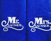 Set of 2 Mr. and Mrs.  Lounge Chair Covers- Free Shipping