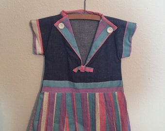 Vintage Clothes Pin Dress w/ clothespins
