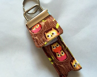 Keychain Chapstick Holder in Mini Owl Life
